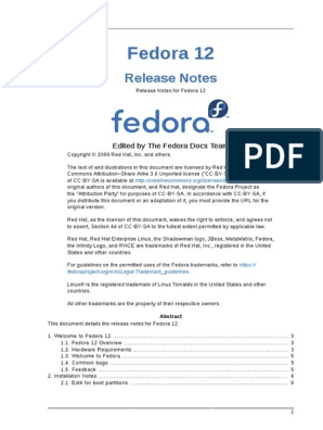 Fedora 12 Release Notes   Fedora (Operating System)   Superuser