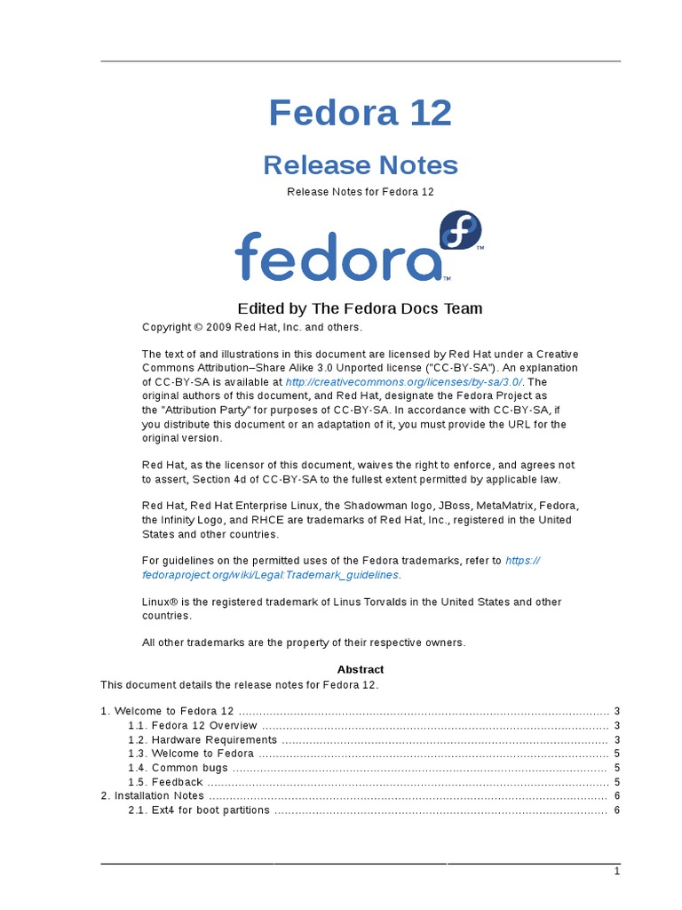Fedora 12 Release Notes | Fedora (Operating System) | Superuser