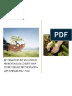 Alternativas y Soluciones Ambientales Mediante Una Estrategia de Reforestación Con Árboles Frutales