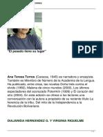 Entrevista a Ana Teresa Torres