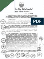 RM N° 627-2016-MINEDU - Norma Técnica 2017