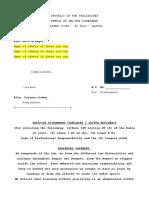 Disbarment vs Gadon Draft