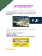 Contaminación de Aguas Generada Por La Actividad Minera