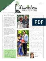 Disciplers Bible Studies Fall 2016 Newsletter