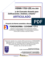 Covenin 1753-1-2005 Estructura de Concreto Armado en Edificaciones Articulado