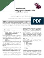 Laboratorio #1 Ciencia de Los Materiales 1