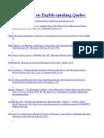 Bibliography on English Missisquoi