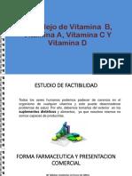 Complejo de Vitamina B, Vitamina a,