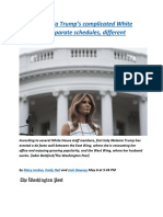Inside Melania Trump's complicated White House life Separate schedules, different priorities.docx