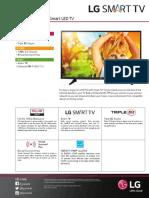 43lh5700 Smart Led Tv Spec Sheet Eng