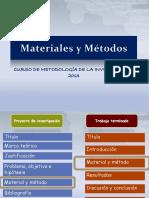 Clase Materiales y Métodos