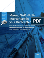 Making SAP HANA Mainstream Datacenter