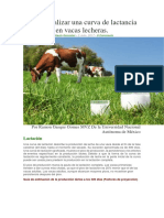 Como Analizar Una Curva de Lactancia en Vacas Lecheras