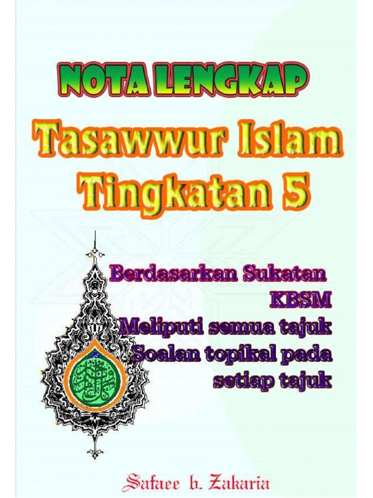 Nota Lengkap Tasawwur Islam Ting 5 Word Docx
