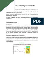 Uso Del Amperimetro y Del Voltimetro
