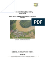 Plan de Desarrrollo Murindó 2012-2015
