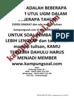 kampungsoal.com Soal Utul UGM TKDU+TKPA 2007-2017