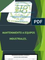 PROGRAMACION DEL MANTENIMIENTO DE EQUIPOS DE REFRIGERACION Y DE AIRE ACONDICIONADO.