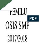 Cover Pemilu Osis Sma 2017