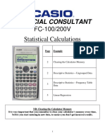 Fc 100 200v Statistical Calculations