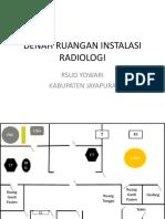 Denah Ruangan Instalasi Radiologi