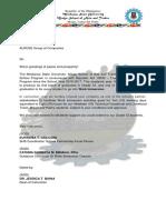 Letter for Immersion