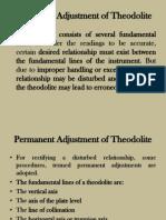 Permanent Adjustments of Theodolite