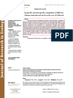 Determination of intraspecific and interspecific competition of different varieties of wheat (Triticum aestivum) and weeds in the area of Gilavand