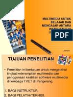 Multimedia Untuk Belajar Dan Mengajar Antara Instruktur Di
