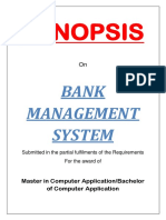 01 Bank Management System Synopsis