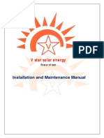 V Star Solar Energy Installation Manual
