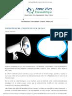 3. Distinção Entre Conceito de Voz e de Fala