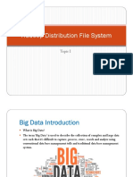 Topic 1 - Hadoop Distribution File System Part I Version 1.0