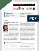 Brussels calling, Belgian EU Presidency, Business Newsletter, 20/09/2010, Issue 3