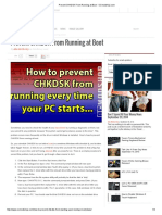 Prevent CHKDSK From Running at Boot - OCmodshop