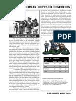 BGWWII German Forward Observer Section