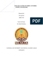 Inter comparative legal study of Scandinavian countries
