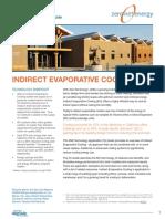 ZNE Technology - Indirect Evaporative Cooling