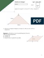 4 Theoreme de Pythagore