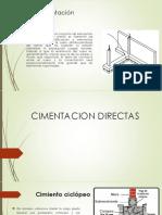 TIPOS CIMENTACIONES -ESTRUCTURAS