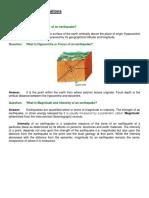 FAQs Seismology