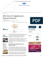 KPSC KAS 2013 Eligibility and Physical Standards - Careerindia