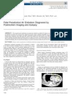 2012fatal Air Embolism Proven by Postmortem Imaging