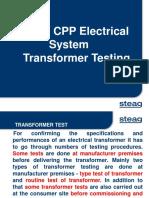 Transformer Testing PPT