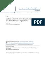 Cultural Sensitivity- Importance Competencies and Public Relati