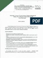 Regulamentul Festivalului – Concurs Coral de Cântece Naţionale Româneşti, Ediţia a IV-a, 2018