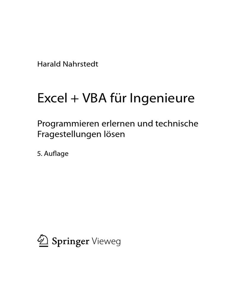 Excel VBA f r Ingenieure