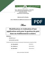 Application Web de La Gestion de Paie Dans Un Etablissement Scolaire