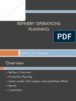 Refinery Operations Planning Final