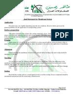 Methood Statement of Membrane System